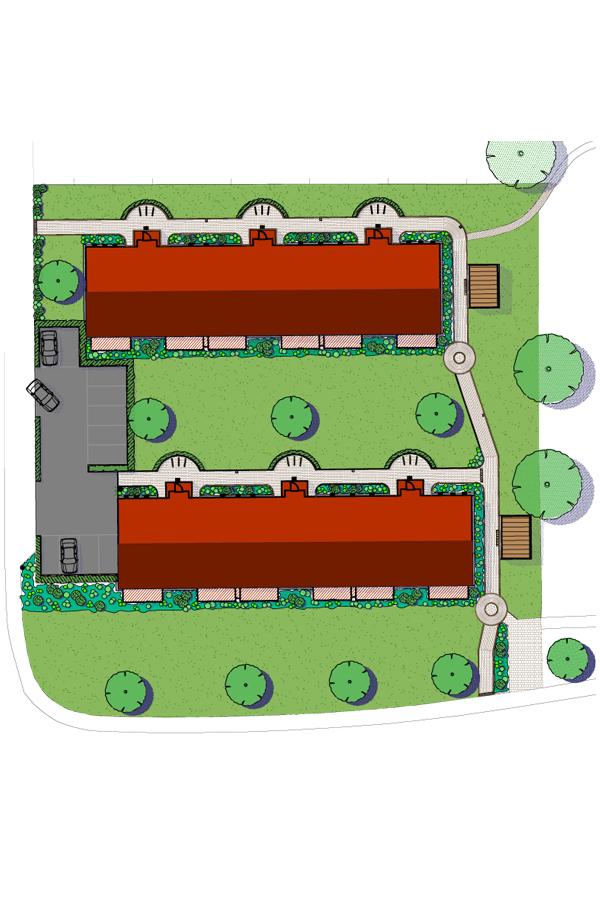 Plan für Gartenanlage