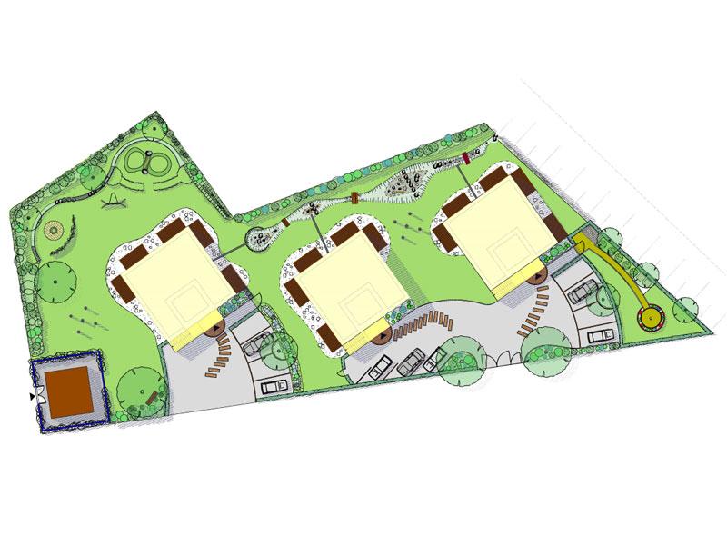 neugestaltung von naturgarten f r baugemeinschaft in hamburg. Black Bedroom Furniture Sets. Home Design Ideas