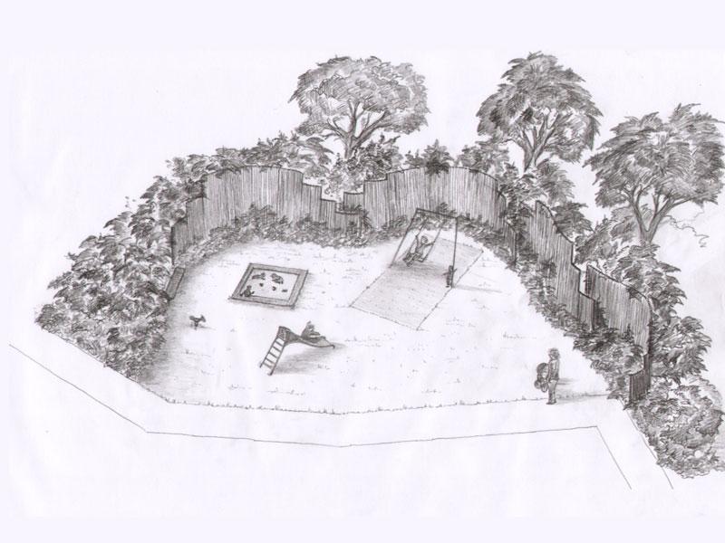 Skizze Spielplatz