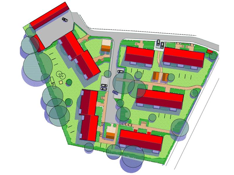 Garagen, Grünflächen