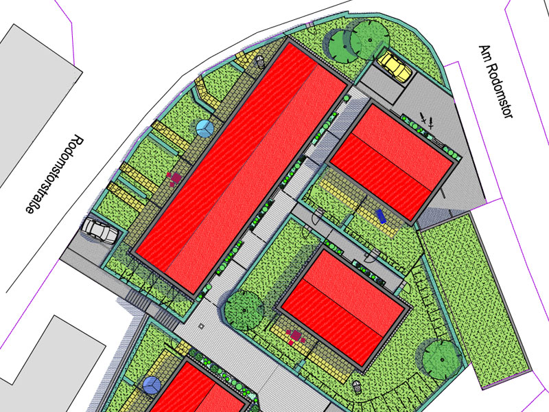 Planung Neubausiedlung in Plön