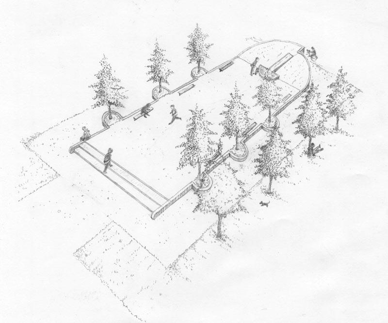Außenanlagen Zeichnung