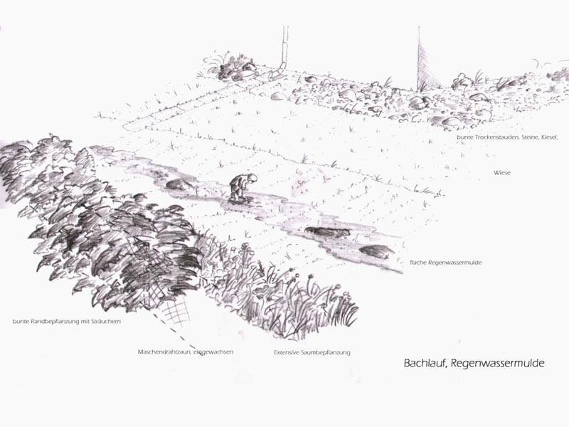 Gartenplanung Ablauf Regenwasser