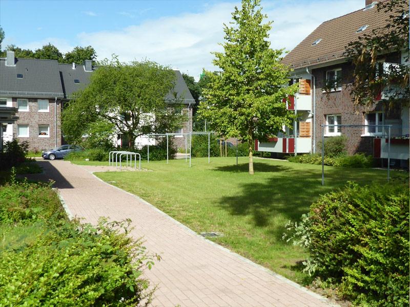Neugestaltung einer Wohnanlage in Itzehohe durch Garten- und Landschaftsarchitekt Bellinger in Hamburg