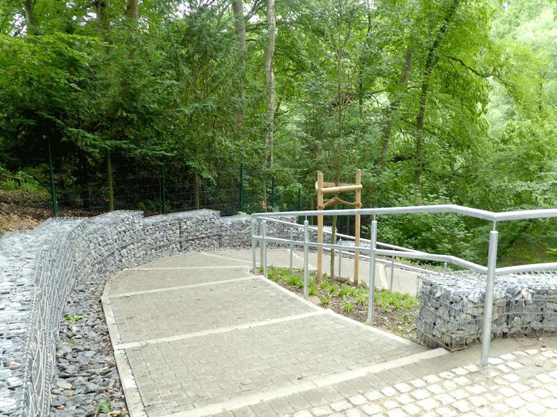 Neugestaltung der Alstertreppen in Mellingstedt