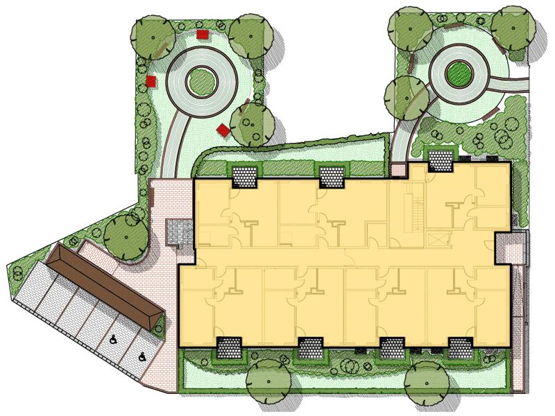 Planung des Außenbereichs einer Seniorenwohnanlage in Itzehoe